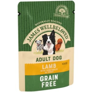 James Wellbeloved Grain Free Senior Dog Lamb Pouch