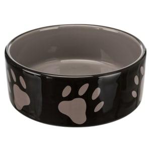 Trixie Ceramic Dog Bowl with Paw Prints