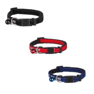 Trixie Elastic Reflective with Plastic Buckle Cat Collar in Multi Colour