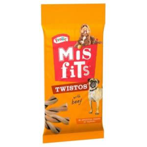 Misfits Twistos Dog Treats with Beef