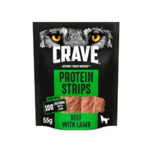 Crave Rind & Lamm Protein Strips für Hunde