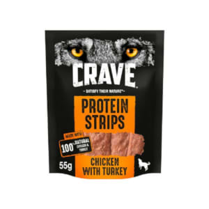 Crave Protein Strips Natural Adult Dog Treat - Turkey & Chicken