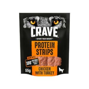 Crave Turkey & Chicken Protein Strips Dog
