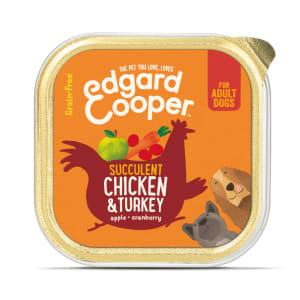 Edgard & Cooper Grain Free Bio Organic Luscious Turkey Dog Food Cup Adult
