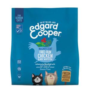 Edgard & Cooper Grain Free Magnificent Free-Run Chicken & MSC Whitefish Dry Cat Food Senior