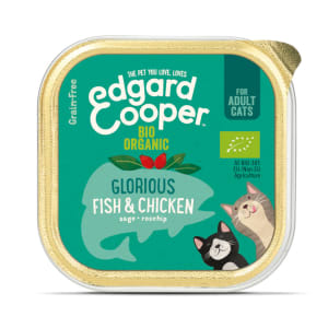 Edgard & Cooper Grain Free Bio Organic Glorious Fish & Chicken Cat Food Cup Adult