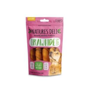 Natures Deli Smoked Hide Twist Medium Adult Dog Treats - Peanut Butter