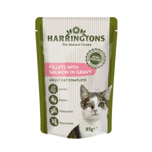 Harringtons Complete Adult Cat Wet Food - Salmon in Gravy