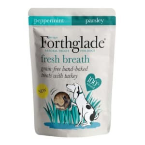 Forthglade Grain Free Baked Fresh Breath Treats with Turkey, Peppermint & Parsley