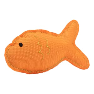Beco Plush Cat Toy - Fish -  Orange