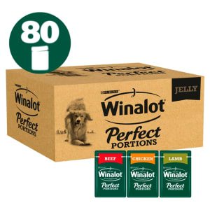 Winalot Perfect Potrions Mixed Selection in Jelly Wet Dog Food 80 x 100g