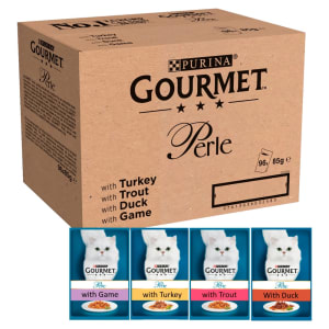Gourmet Perle Adult Mini Fillets Pouches Medley Wet Cat Food - Mixed Selection