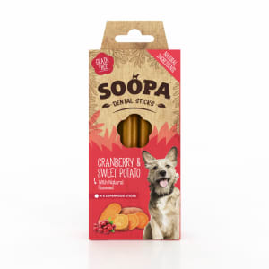 Soopa Grain Free Cranberry and Sweet Potato Dental Sticks
