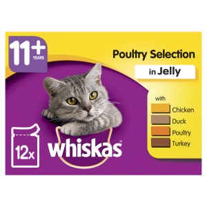 WHISKAS 11+ Cat Pouches Poultry Selection in Jelly