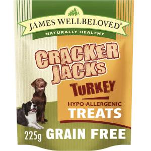 James Wellbeloved CrackerJacks Grain Free Hypo-Allergenic Dog Treats - Turkey