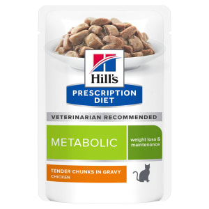 Hill's Prescription Diet Metabolic Weight Management Adult Wet Cat Food in Gravy - Chicken