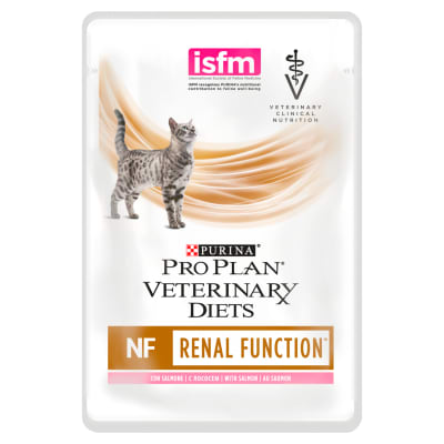 Purina Pro Plan Veterinary Diets Feline NF St/OX Renal Function Wet Food  Pouch With Salmon - 10 x 85g