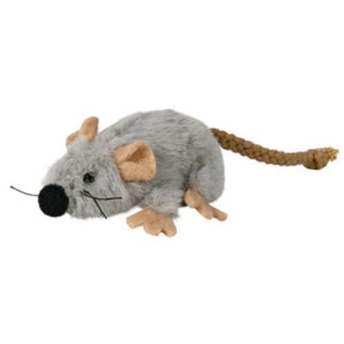 Trixie Spielzeug Maus in Plüsch für Katzen, Katzenspielzeug