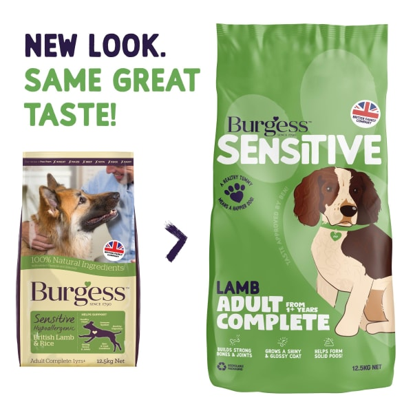 Burgess Sensitive Hypoallergenic Adult Complete Dry Dog Food - Lamb & Rice