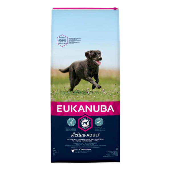 Eukanuba Active Adult Large Breed Dry Dog Food - Chicken