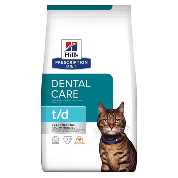 Hill's Prescription Diet Dental Care t/d Adult Dry Cat Food - Chicken