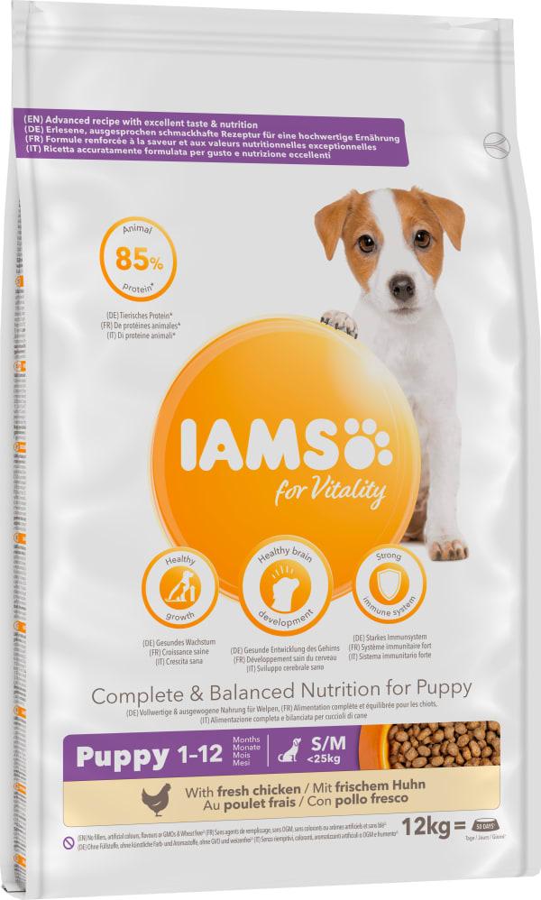 Iams Vitality Puppy Small/Medium Breed Upto 1 Year Dry Dog Food - Fresh Chicken