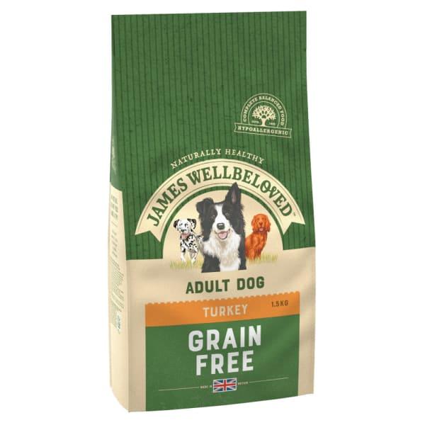 James Wellbeloved Grain Free Adult Dry Dog Food - Turkey & Vegetable