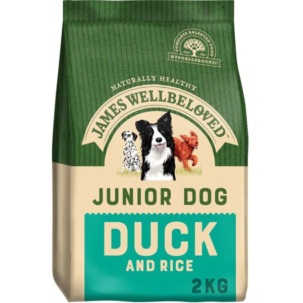James Wellbeloved Medium and Large Junior Dry Dog Food - Duck & Rice