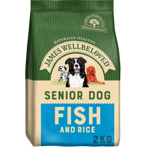 James Wellbeloved Senior Dry Dog Food - Fish & Rice