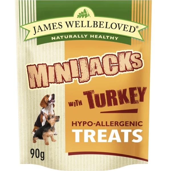 James Wellbeloved Minijacks Hypo-Allergenic Dog Treats - Turkey