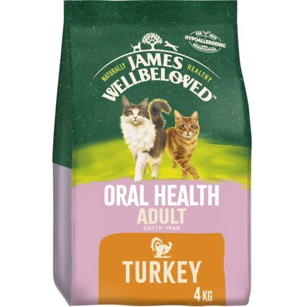 James Wellbeloved Complete Adult Oral Health Dry Cat Food - Turkey