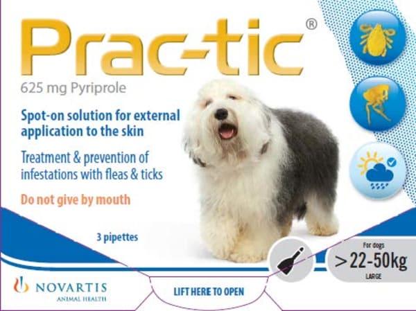 Prac-Tic Flea & Tick Treament for Large Dogs (22-50kg)