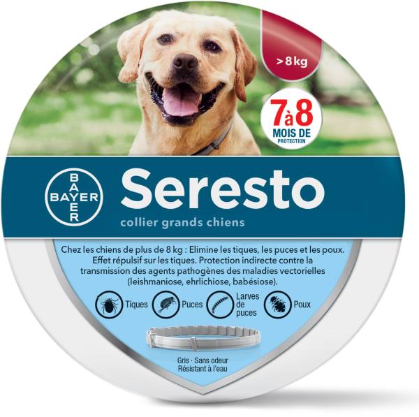 Seresto Collier Anti Puce et Tiques pour chiens