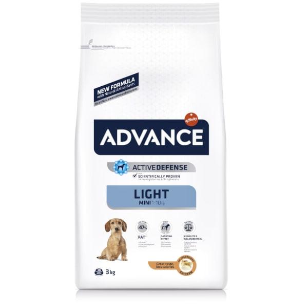 Advance Mini Light Hundefutter mit Huhn & Reis