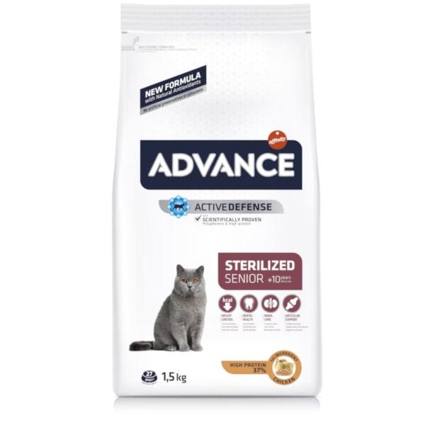 Advance Sterilized +10 Senior Dry Cat Food - Chicken & Barley