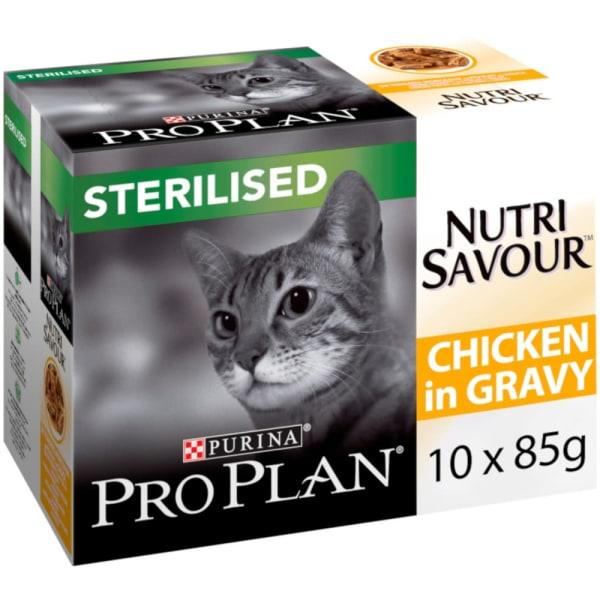 Purina Pro Plan NutriSavour Sterilised Adult Wet Cat Food - Chicken in Gravy