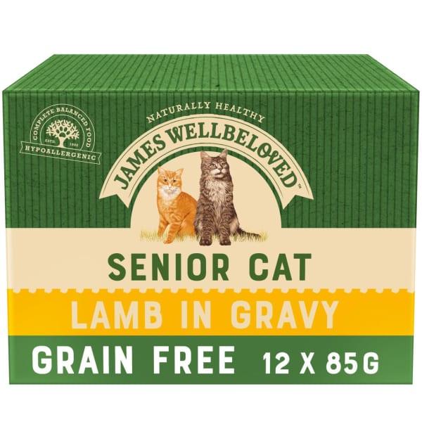 James Wellbeloved Grain Free Senior Cat Wet Food Pouch - Lamb