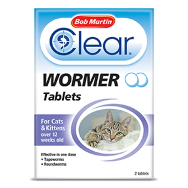 Bob Martin Clear Wormer Tablets for Kitten Cats