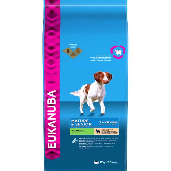 Eukanuba Mature & Senior 7+ Dry Dog Food - Lamb & Rice