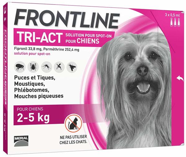 Frontline Tri Act pour Très Petit Chien (2-5kg)