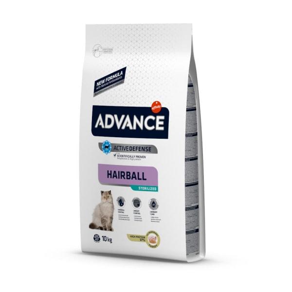 Hairball Sterilized Dinde & Orge par Advance