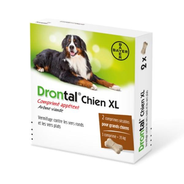 Drontal Plus XL Vermifuge pour chiens – Boites de comprimés