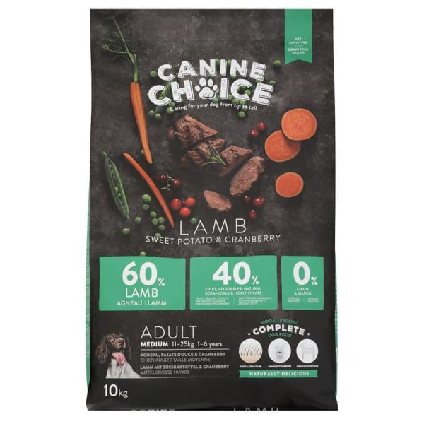 Canine Choice Hondenvoer Adult Medium - Lam