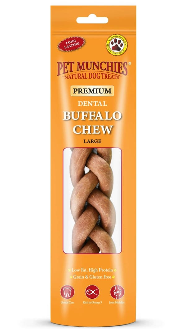 Pet Munchies Dog Dental Treats - Buffalo Chew