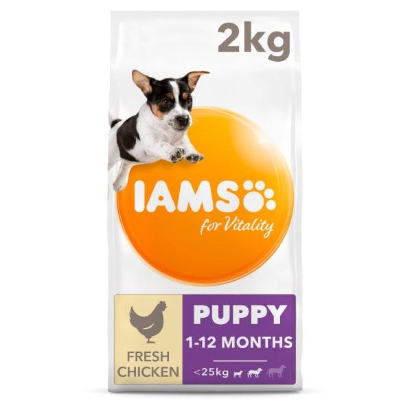 Iams Vitality Puppy Small/Medium Breed Dry Dog Food - Chicken