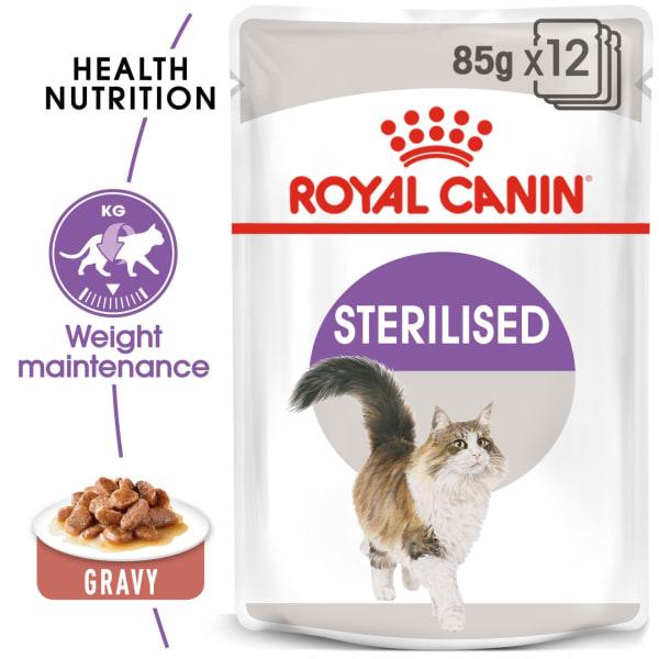 Royal Canin Sterilised Adult Wet Cat Food - Gravy