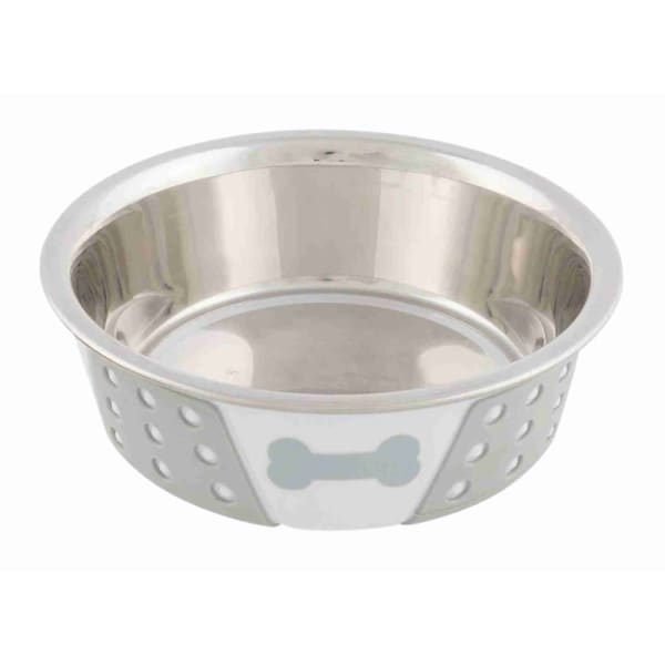 Trixie Stainless Steel Dog Bowl avec os