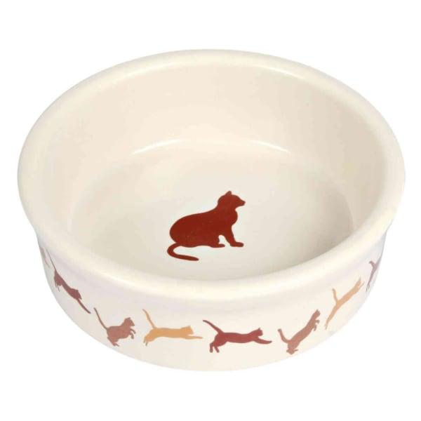 Bol de chat en céramique de Trixie avec l'impression de chat