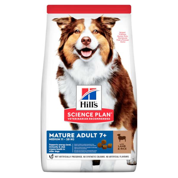 Hill's Science Plan Canine Medium Mature Adult Lam & Rijst