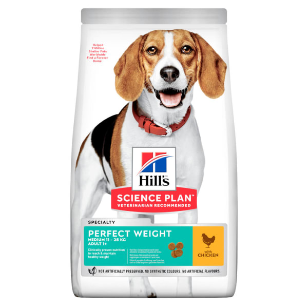 Hill's Science Plan Canine Medium Adult Perfect Weight Huhn